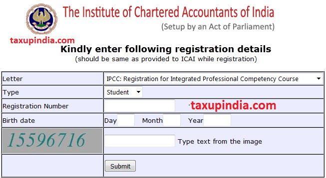 how to print icai registration letter online for students and members