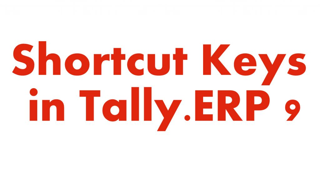 Pdf 9 shortcut tally file keys erp