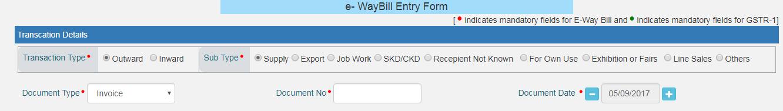 E-way bills